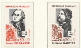 PIA - FRANCIA - 1972 : Personaggi Celebri. Sovrattassa A Favore Della Croce Rossa   -  (Yv 1727-28) - Primo Soccorso