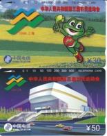 SERIE DE 2 TARJETAS TAMURA DE CHINA DE NATIONAL GAMES DEL AÑO 1996 (NUEVA-MINT) - China