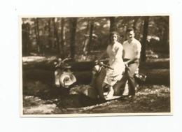 Photographie Moto Scooter Couple . Photo 8,6x5,7 Cm Env - Cars