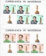 CUBA 1982 - SCACCHI - JOSE' RAOUL CAPABLANCA  -4 FOGLIETTI  -    MNH** - Nuevos