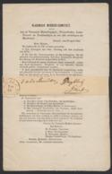 """""""Précurseur"""" - Imprimé """"Vlaemsch Midden - Comiteit"""" (textes De Plusieurs Pages) Daté De Brussel 20/4/1853 Vers Gent - Belgien"""