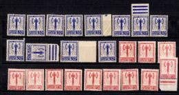 France Service Francisque YT N° 2 (12) Et N° 8 (12) Neufs (*). B/TB. A Saisir! - Dienstpost