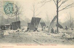 CPA THEMES METIERS CARRIERES MONTAIGUILLON LOUAN UN CHANTIERS D'EPINCAGE D77 EDIT.ESPARCIEUX 1904  VOIR IMAGES - Métiers