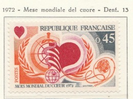 PIA - FRANCIA - 1972 : Mese Mondiale Del Cuore - (Yv 1711) - Malattie