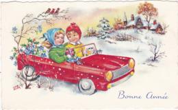 Mignonnette : Bonne Année : Enfants Dans Une Voiture - - New Year