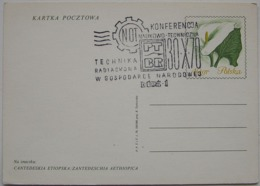 POLAND SPECIAL POSTMARK RADIATION TECHNIQUE CONFERENCE LODZ 1970 - 1944-.... République
