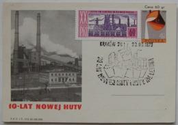 POLAND SPECIAL POSTMARK 30 YEARS OF NOWA HUTA KRAKOW 1970 - Non Classés