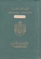 EGYPT KINGDOM 1950 PASSPORT LEBANON FISCAL FISCAUX REVENUE STAMPS - Documents Historiques