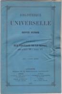 BIBLIOTHEQUE UNIVERSELLE ET REVUE SUISSE, TABLE DES TRAVAUX 1866-70 - Books, Magazines, Comics