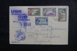 PITCAIRN - Enveloppe En Recommandé Pour Le Royaume Uni En 1950, Affranchissement Plaisant - L 44827 - Pitcairn