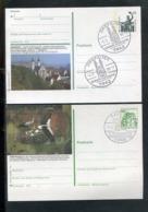 """Bundesrepublik Deutschland / 2 Bildpostkarten """"ZWIEFALTEN"""" U. """"SAULGAU"""" Je Mit Bildgleichem Stempel (0490) - [7] Federal Republic"""