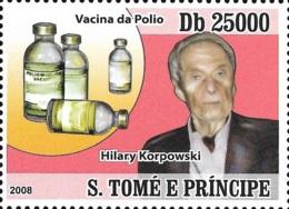 Sao Tome Hilary Koprowski Poland Polio Vaccine Inventor Medicine 1v Stamp MNH Michel:3622 - Famous People