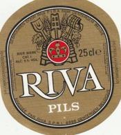 1 ETIKET RIVA PILS - Beer