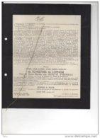 Messire De Schietere De Lophem Veuf Outryve D'Ydewalle °Oudenaarde 1883 + Oedelem 18/9/1943 Ruddervoorde Brugge Casier - Esquela