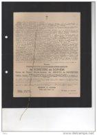 Messire De Schietere De Lophem Epoux De Meester De Ravestein °Oudenaarde 1882 + 24/6/1943 Oedelem De Meester De Betzenbr - Esquela