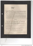 Messire De Schietere De Lophem Juge Tribunal °Brugge 1850 + 10/9/1920 Sint Kruis Casier Séjournet De Rameignies Janssens - Esquela