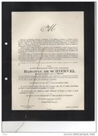 Baronne De Schiervel De Behault °bruxelles 1853 + 6/8/1933 Gand Ghlin Fouron Le Comte Buggenhout Oldenzeel Tot Oldenzeel - Esquela