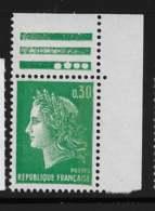 Yvert 1611b Maury 1611b - 30 C Vert PHO A -  Coin De Feuille - ** - 1967-70 Marianna Di Cheffer