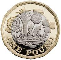 Great Britain. 1 Pound. Flora. Bimetal. UNC. 2016 - 1971-… : Monnaies Décimales