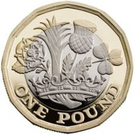 Great Britain. 1 Pound. Flora. Bimetal. UNC. 2016 - 1971-… : Monedas Decimales