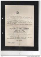 Chevalier Schellekens ° 1855 + Bruxelles 7/1/1918 De Bruyn Geerinckx Caporal 30 Reg De Ligne - Esquela