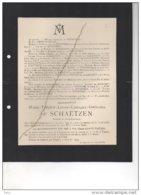 Marie De Schaetzen °Bommershoven 1914 + 26/7/1933 Tongeren Breuls Naveau Heusch De La Zangrye Bonhome - Esquela