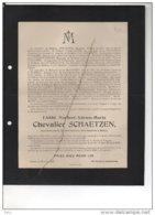 Abbé Norbert De Schaetzen °Tongeren 1878 + 21/8/1921 Aumonier Chanoinesses Sépulcre Bilsen Vallée Poussin Corswarem - Esquela