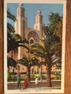Cpsm, CASABLANCA , Eglise Du Sacré-Coeur, Photo Flandrin, écrite - Casablanca