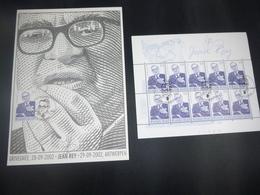 "BELG.2002 3097 FILATELIC CARD & BL (10x3097)MNH Gomme , 1°jour/dag & Signé ""GUILLAUME BROUX"" - FDC"