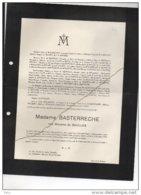 Madame Basterreche Née De Saulles ° Nouvelle Orléans 1848 + Pau 19/12/1937 Biaudos Landes De Watrigant Bivort De Saudée - Esquela