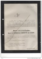 Baron De Sarolea De Cheratte De St Remy °Cheratte 1809 + 5/1/1878 Liège BErten Crahay Courtoy - Esquela