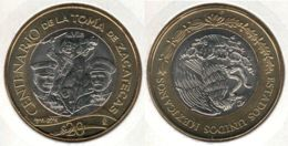 Mexico. 20 Dollars. Fight For Zacatecas. Bimetal. UNC. 2014 - Mexico