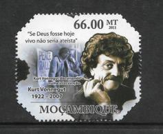 Mozambique Kurt Vonnegut Se Deus Fosse Hoje Vivo Nao Seria Ateista 1v Stamp MNH Michel:4739 - Famous People
