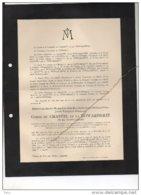 Messire Chastel De La Howarderie °1920 +8/11/1944 Mort En Mer Pour Le Roi Et La Patrie Guerre Volontaire De Brissac WOII - Esquela