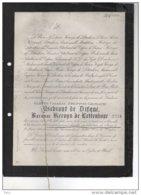 Juliette Ysebrant De Difque Baronne Kervyn De Lettenhove °1853 + 2/6/1881 Bioul Glabbeek Zuurbemde Dela Coste - Esquela