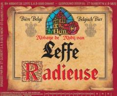 1 ETIKET LEFFE RADIEUSE - Beer