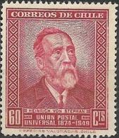 CHILE 1950 75th Anniversary Of UPU - 60c Heinrich Von Stephan MH - Chili