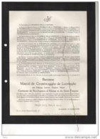 Marcel De Crombrugghe De Looringhe De Borchgrave D'Altena °Oostende 1900 +15/12/1956 Ukkel Visart De Bocarmé Churchill - Esquela