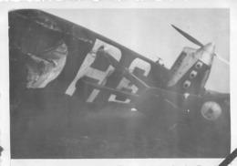 RESTES D'AVION APRES ACCIDENT PHOTO ORIGINALE FORMAT 8.50 X 6 CM - Aviation