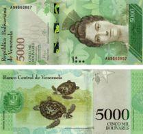 Venezuela. Banknote. 5000 Bolivar. Turtles. UNC. 2016 - Venezuela