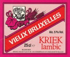 1 ETIKET VIEUX BRUXELLES KRIEK INGELMUNSTER - Beer