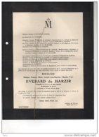 Everard De Harzir Brigadier CSLA, Lieutenant Armée Secrète Belge °olne 1921 + Tombé Pour La Patrie Alleur 4/9/1944 - Esquela