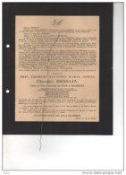 Dessain Eric Epoux De Cocke De Rameyen Capitaine Commandant Cavalerie 1914-18 °Mechelen 1895 + Harzungen Buchenwald 1944 - Esquela