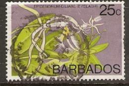 Barbados  1974  SG  518  Orchid Eyelash  Fine Used - Barbados (1966-...)