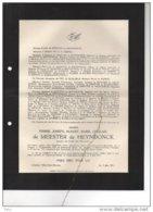 De Meester De Heyndonck Soldaat °rumst 1904 + Stablack Prusse Orientale 20/2/1941 Villers Saint Ghislain De Munck WOII - Esquela
