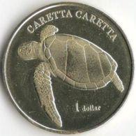Moorea. French Polynesia. Coin. 1 Dollar. 2017. UNS. Turtle. Loggerhead - Polynésie Française