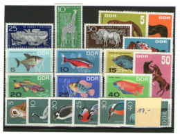 Lot ältere DDR Tiere Postfrisch - Stamps