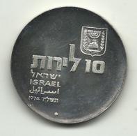 1974 - Israele 10 Lirot Argento - Indipendenza - Israël