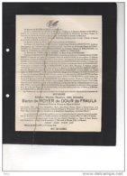 Baron De Royer De Dour De Fraula °1880 + Bolland 29/1/1946 De Ribaucourt T'Serclaes De Kessel Pycke De Peteghem - Esquela