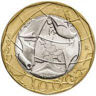 Italy. Coin. 1000 Lir. 1997-1998. Bimetal - 1 000 Lire